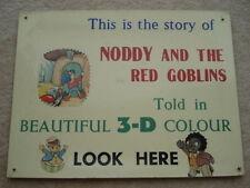 RARE c1950s VINTAGE noddy&the ROSSO Goblins detto in bellissimo colore 3D ADV CARD