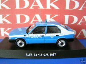 Die cast 1/43 Modellino Auto Polizia Police Alfa Romeo 33 1.7 Q.V. 1987