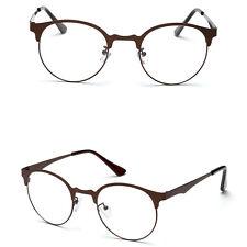 Optical Glasses Eyeglass Frame Fashion Men Women Vintage Spectacles Clear Metal