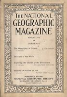 1919 National Geographic August - Van Armenia; World games and sports; Weavers