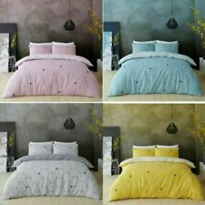 BE HAPPY DUVET COVER PILLOW CASE Honeycomb Bedding Set Soft All sizes