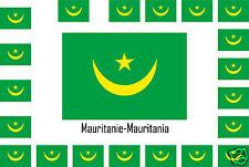 Assortiment lot de 25 autocollants Vinyle stickers drapeau Mauritanie-Mauritania