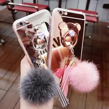 Diamond Glitter Crystal Miroir Ring Case i5 6 7 8 P8 9 lite 8 Etui Housse Coque