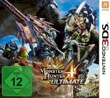 Monster Hunter 4 Ultimate (Nintendo 3DS, 2015, Keep Case) original verpackt -NEU