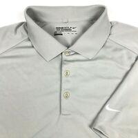 Nike Golf Gray Tour Performance Short Sleeve Dri Fit Rugby Polo Shirt Mens XXL