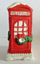 Rex & Lee 1990 Christmas Village Telephone Booth