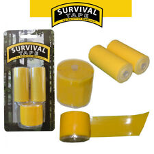 Survival Tape Pak - Rescue Yellow - Emergency & Survival Tape for Survival Kits