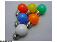 E27 - 6er MIX HQ 1,5 Watt SMD LED bunte Tropfenlampe farbige Glühlampe vergl.15W