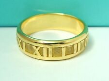VINTAGE TIFFANY & CO 750 18K YELLOW GOLD ATLAS COLLECTION BAND RING SZ 11.75