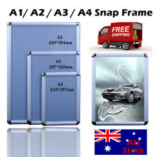 Click Snap Frame  A1 A2 A3 A4 Sliver Image Poster Click Picture Signage Holder