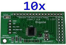 10x Serial:UART/I2C/SPI Adapters for 1602/1604/2002/2004/4002 LCD in Arduino/PIC