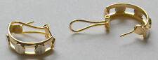 14k Solid Gold Polished French Back Earrings 6.4 Grams