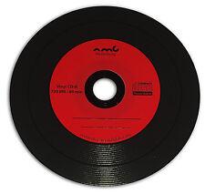 Vinyl CD-R Carbon, 50 Stück, 700 MB zum archivieren, Labelfarbe: Rot
