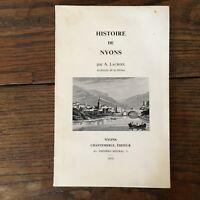 A.Lacroix Histoire Di Nyons Cibo Drôme Chantemerle 1973