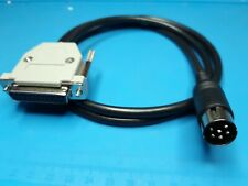 AMIGA 500 600 1200 4000 VIDEO CABLE DB23 FEMALE + HOOD + DIN 6 PIN 1084P 1084S