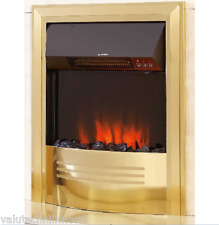 Celsi Accent Infusion Electric Fire BRASS FINISH H 59.5 W 49.8 D 7.5/8.3 CM's