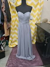 Dessy Collection Platinum Silver Bridesmaid Dress Size 8
