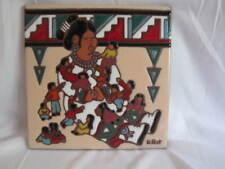 Earthtones Storyteller Tile Trivet Wall Decor 1999 K Rit
