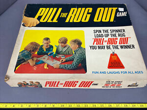 Vintage RARE 1968 Pull The Rug Out Game Schaper MFG. 100% Complete.