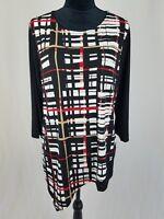 Easywear by Chico's women 2 asymmetrical 3/4 sleeve tunic blouse slinky