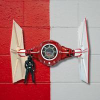 Star Wars Red Tie Fighter Black Series Kylo Ren Unmasked Inspired Interceptor
