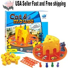 Cat Mouse Table Games ~ Parent-child Interaction Fun Game (Age 4-8) ~ US Seller