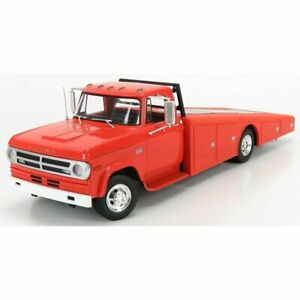Acme Models Dodge D-300 Truck Ramp Car Transporter 1970 Dark Orange 1:18