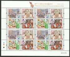 MACAU CHINA 2020 70TH ANNIV. FEDERATION OF TRADE UNIONS FULL SHEET OF 16 STAMPS