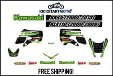 For Kawasaki KX65 KLX110 Decal Sticker Kit KX 65 KLX 110 2000-2013 2000-2009