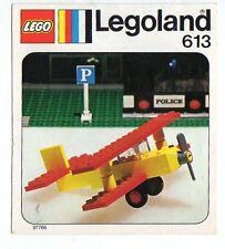 Lego 613-1: Biplane  NOTICE/ INSTRUCTIONS BOOKLET / BAUANLEITUNG
