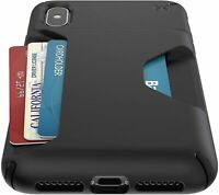 Speck Products Presidio Wallet iPhone Xs Max Case, Black/Black - OPENBOX