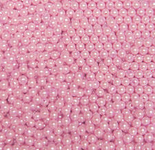500pc Round 6mm Beads Pink Pearl Color for crafts jewelry necklace bracelet
