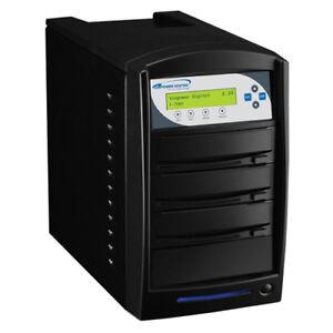 SharkCopier 1-2 24X CD DVD Duplicator Disc Burner copier 320GB HDD Shark-S2T-BK
