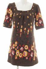 LAVAND Kurzarmkleid abstraktes Muster Damen Gr. DE 38 braun Kleid Dress