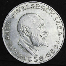 Chelín Austria. 25 0.800 moneda de plata, 1958. AUNC Con Lustre