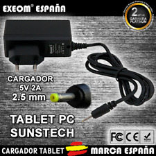 Cargador para Tablet Pc SUNSTECH 2000 MAH WALL CHARGER 2.5mm 5v 2000mah 2A