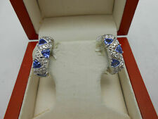 1.80ct 14k White Gold Diamond Fancy Earrings