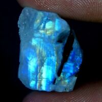 100% Natural Rainbow Moonstone Rock Rough Slab Specimen Gemstone JGEMSRG701