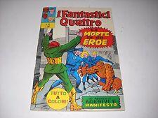 FANTASTICI QUATTRO N. 26 CON POSTER E ADESIVI  1972 CORNO MARVEL OTTIMO ! GADGET
