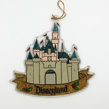 Vintage, Disney, Christmas, sparkly, castle, ornament