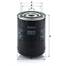 Mann W933/1 Oil Filter Spin On 130mm Height 93mm Outer Diameter Service