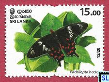 Sri Lanka Stamps 2020, Wild Species Threatened, Animals, Butterfly, MNH