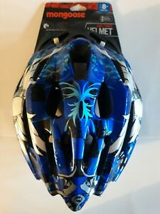 Mongoose Bike Helmet Youth 8+ Dial-Tuned Lightweight Microshell [Blue, Skull]