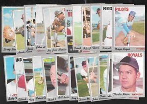 1970 OPC O PEE CHEE TOPPS MLB BASEBALL CARD 378-528 SEE LIST