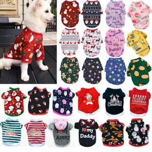 Weihnachten Haustier Hund Katze Kleidung Warm T-Shirt Mantel Elch Bluse Pullover