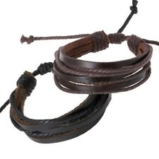 Leather Bracelet Unisex Fully Adjustable Surfer Steampunk 3.99 Price Is For Both
