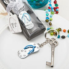 Beach Themed Metal Flip Flop Key Chain Favor Wedding Shower  Party Gift Favors