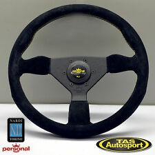 Nardi Personal GRINTA Steering Wheel Black Suede Yellow Stitch  6430.35.2092