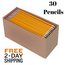 Pre Sharpened Natural Wood School Pencils Latex Free HB #2 Student Office 30 PK