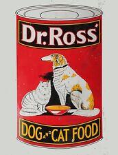 "TIN SIGN ""Dr Ross Dog Food"" Pets  Snacks Art Deco Garage Wall Decor"